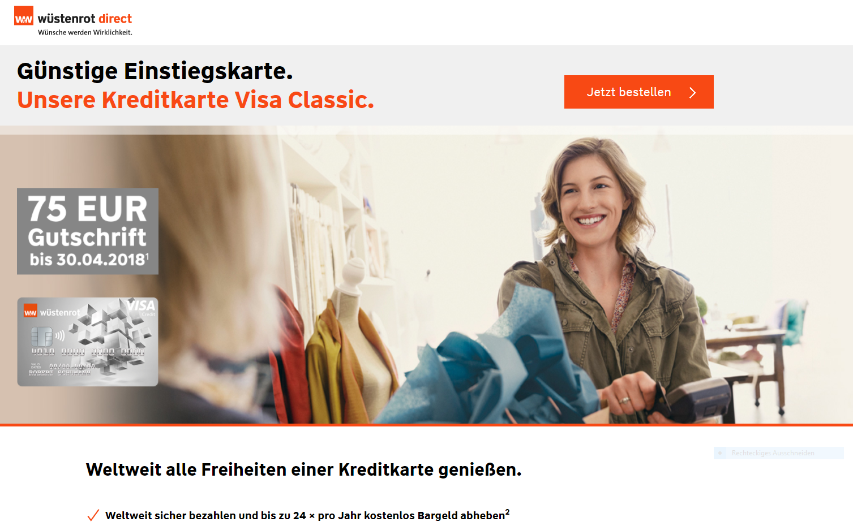 Wüstenrot & Württembergische Visa Classic Kreditcard
