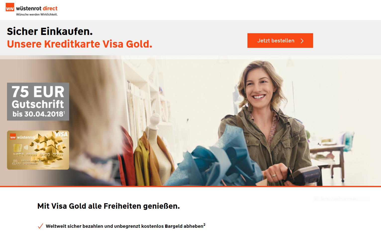 Wüstenrot & Württembergische Visa Gold Kreditcard