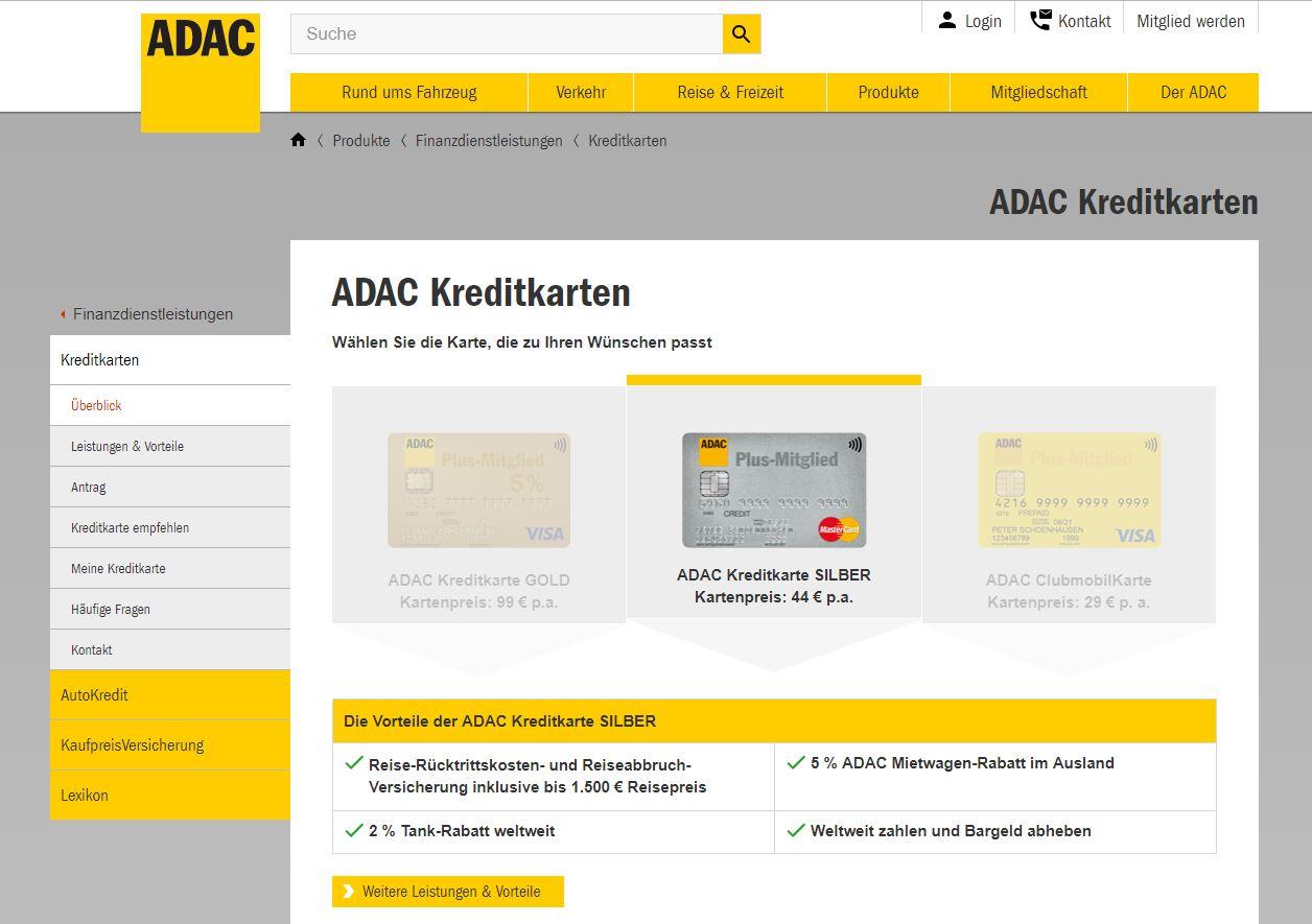 ADAC Kreditkarte Silber