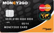 Money2Go MasterCard Prepaid Kreditkarte