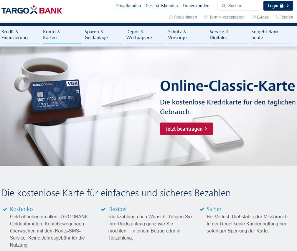Targo Bank Classik Kreditkarte
