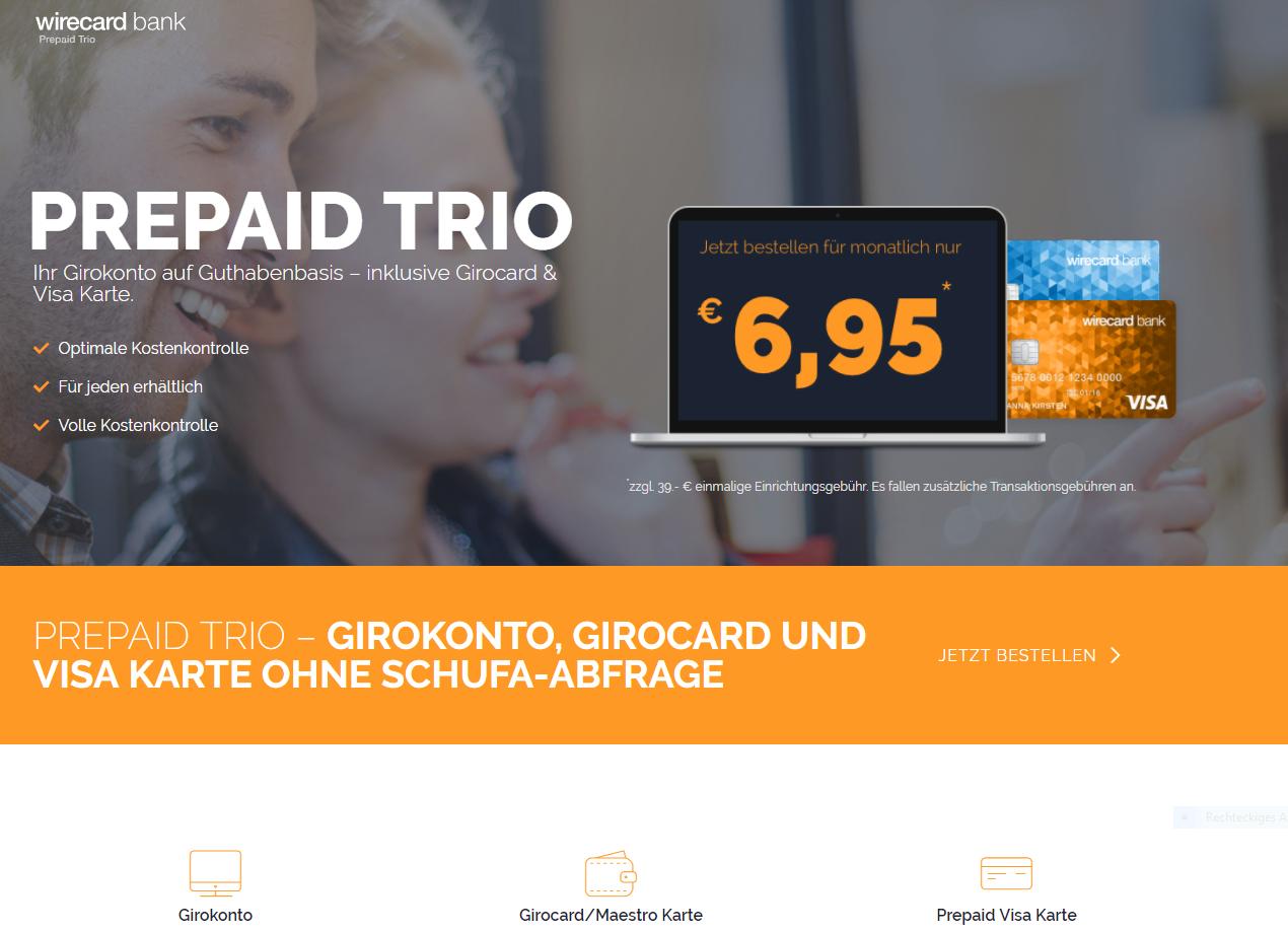 Wirecard PrepaidTrio Kreditkarte