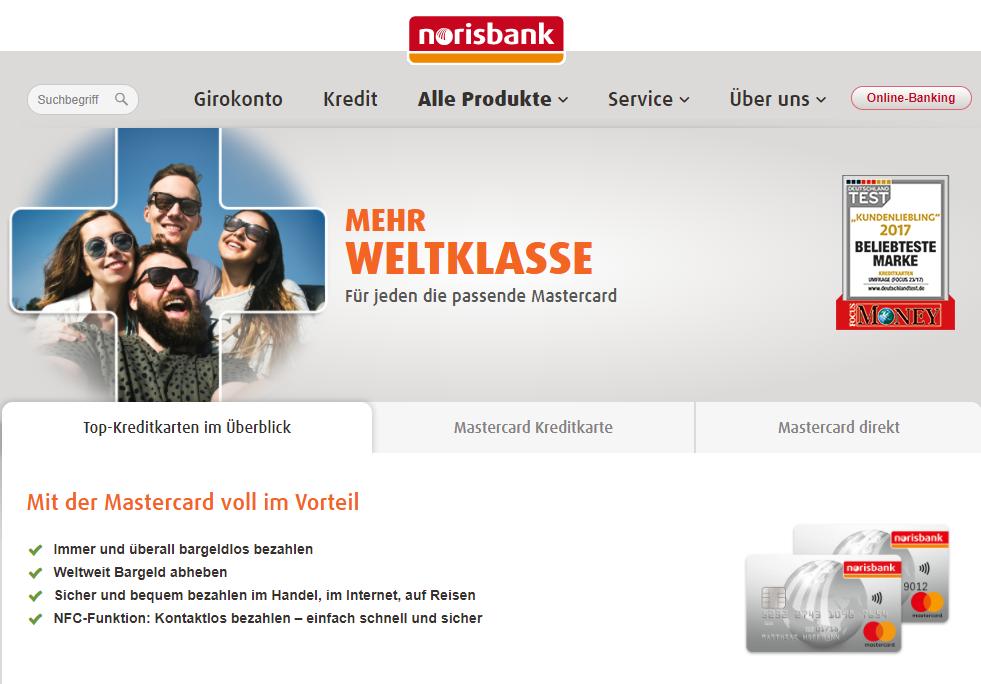 norisbank Kreditkarte Mastercard