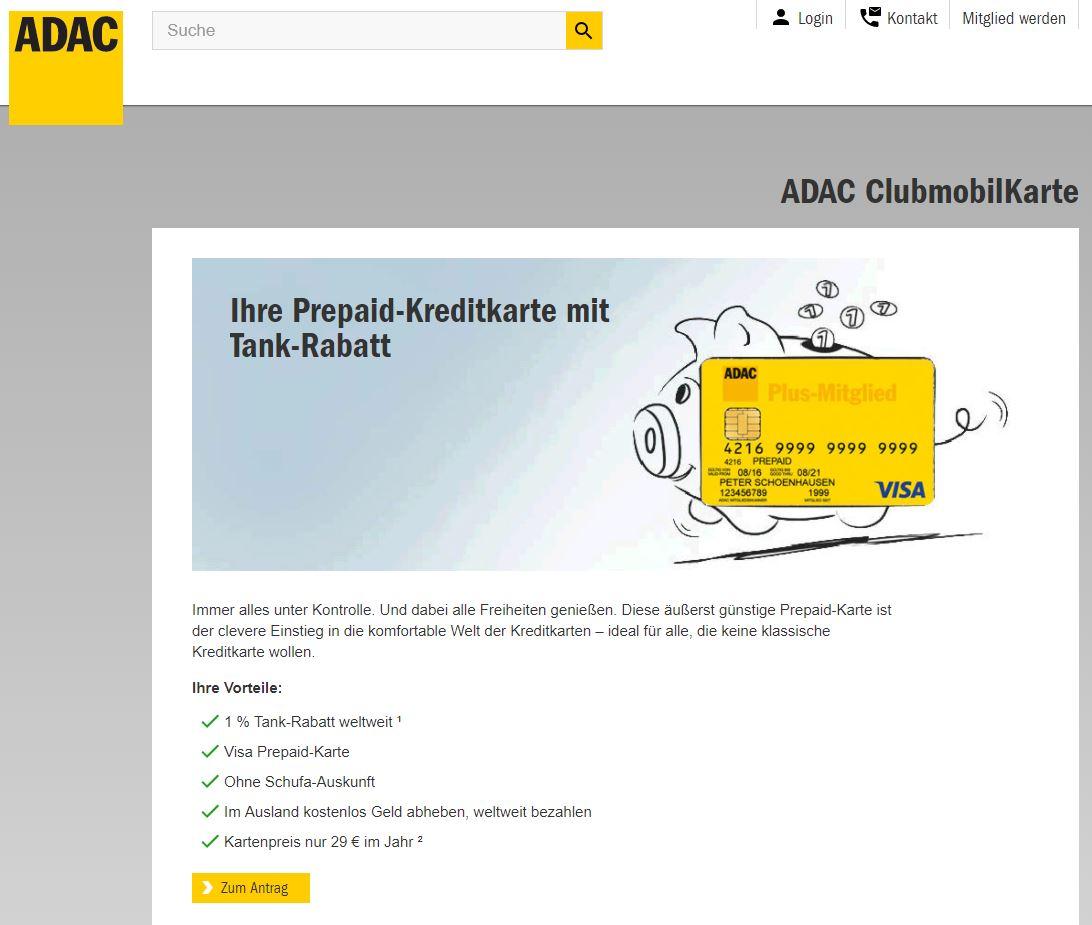 ADAC Clubmobile Kreditkarte