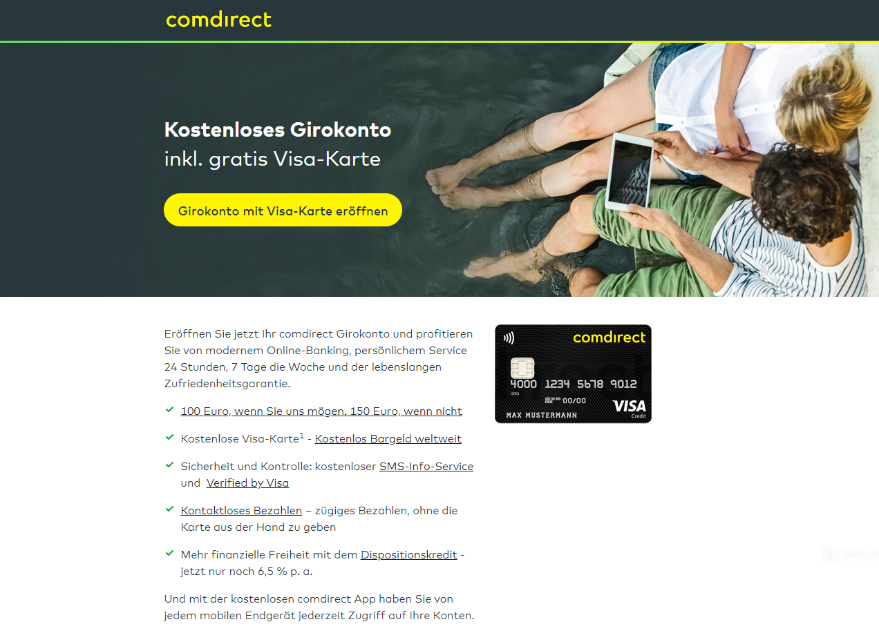 comdirekt Visa Karte und Girocard